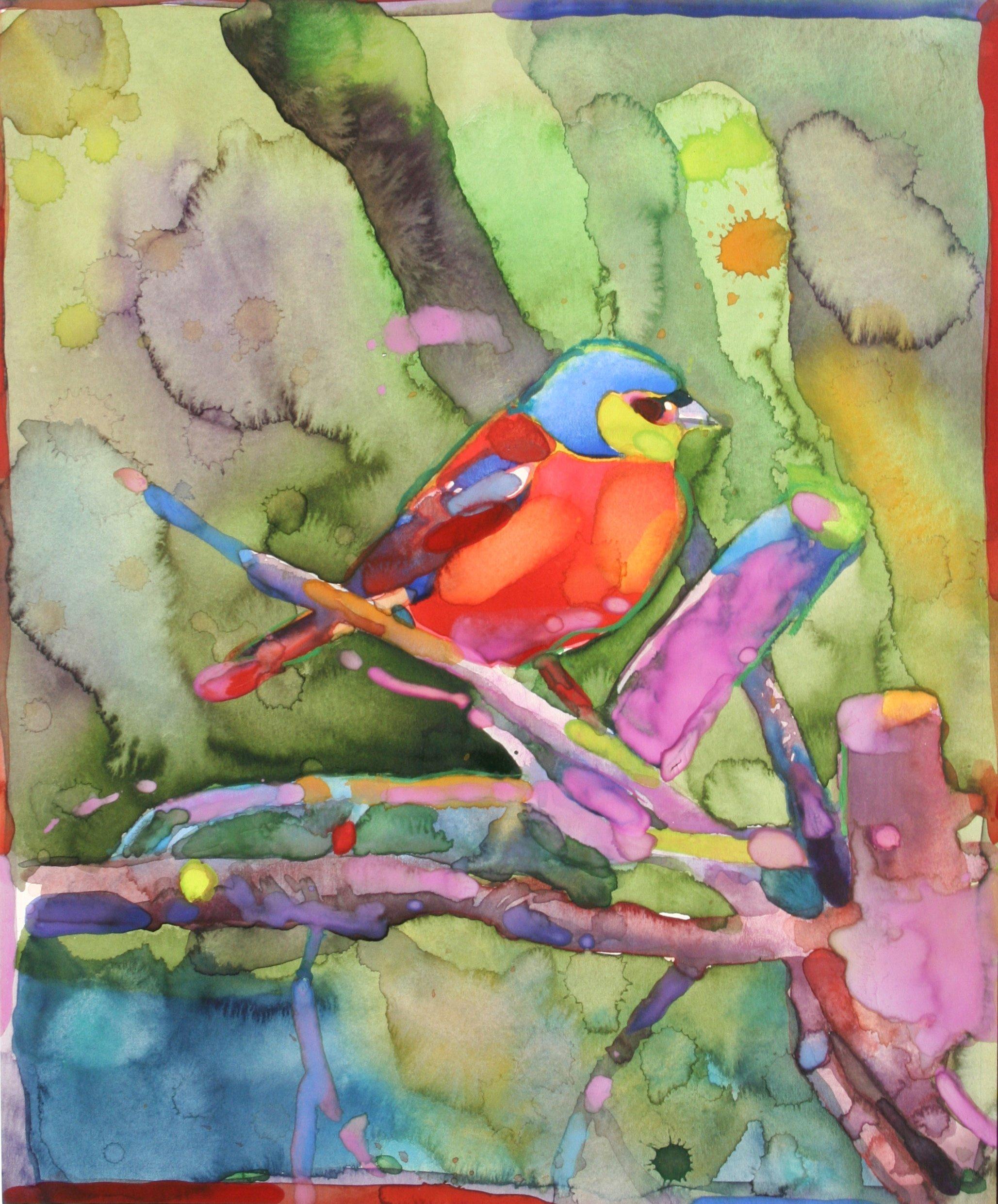 Pruner, Gary – Untitled Bird On Branch