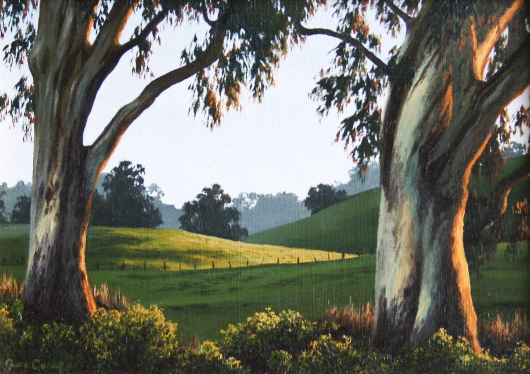 Carey, June – Untitled Landscape With Eucalyptus