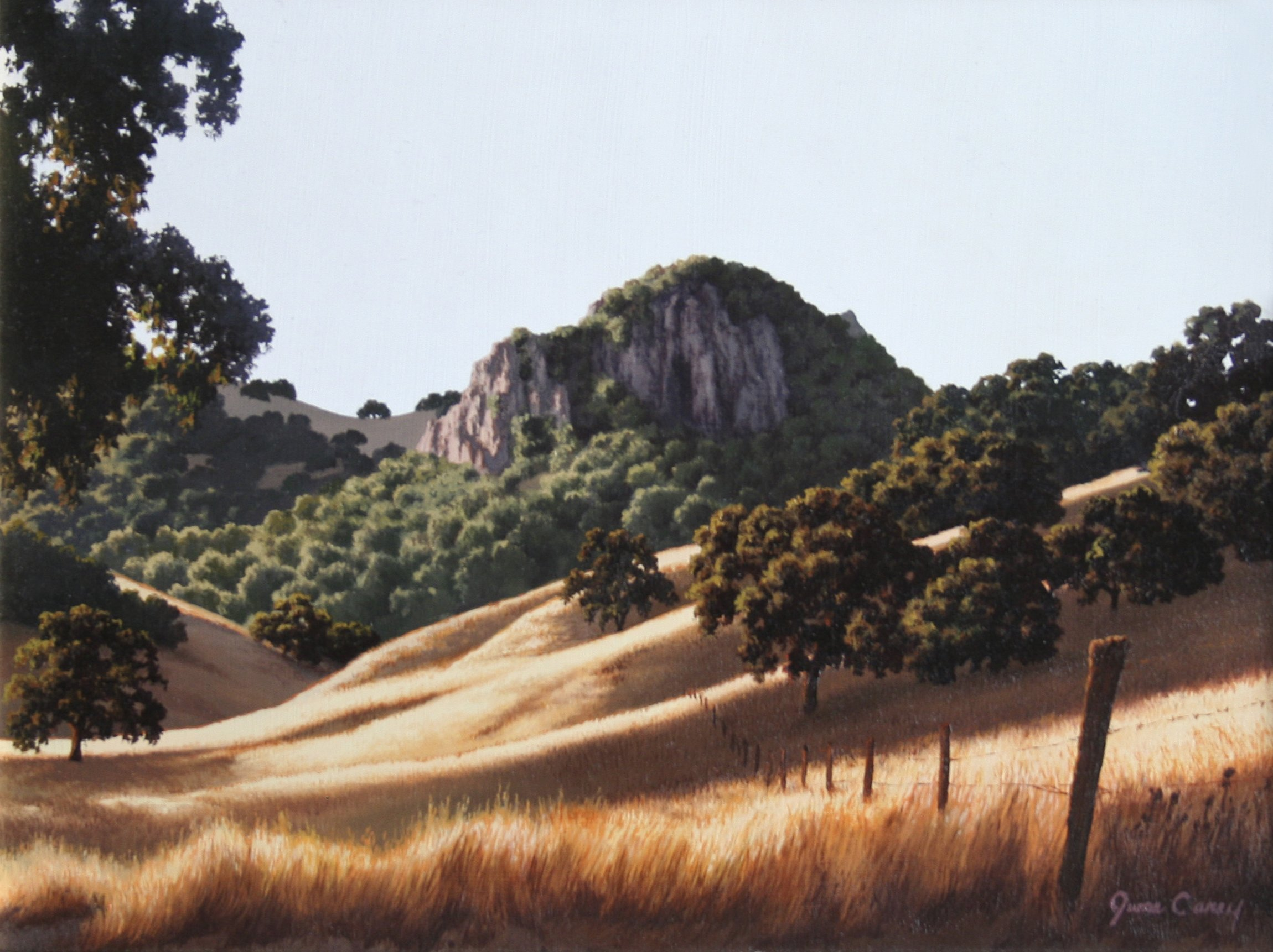 Carey, June – Untitled Landscape With Grassy Hills