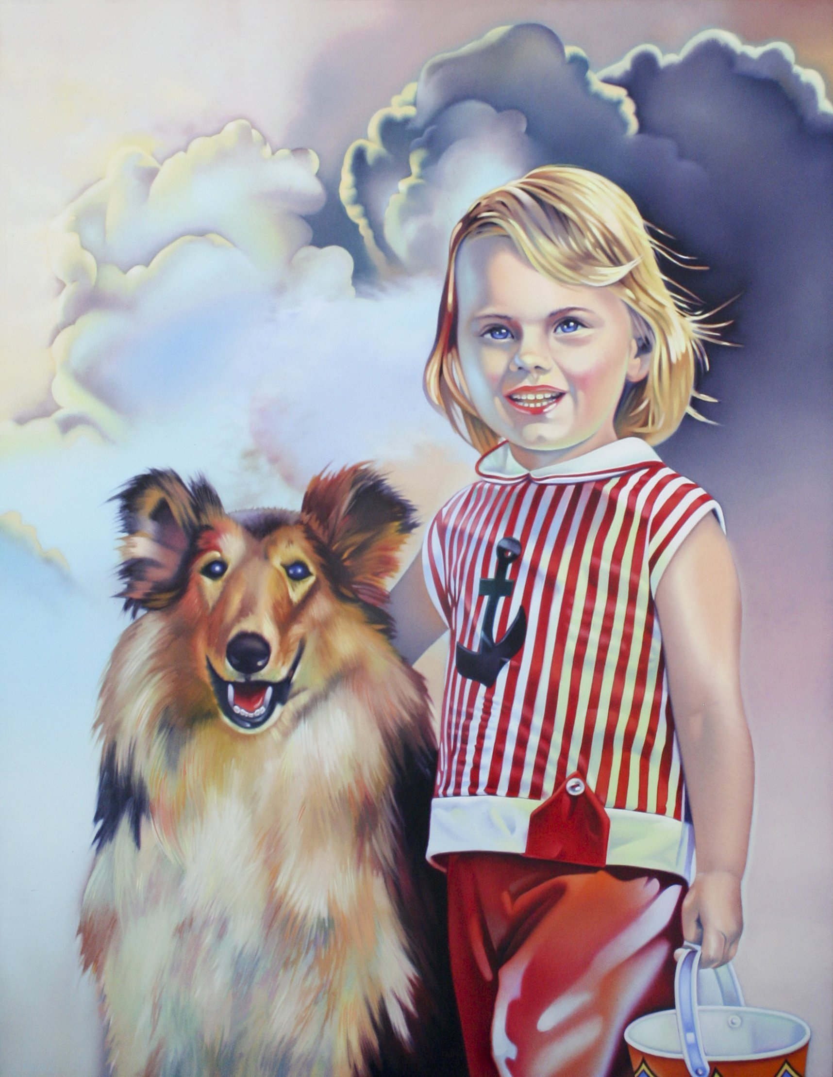 Pruner, Gary – Girl and Collie, c. 1980