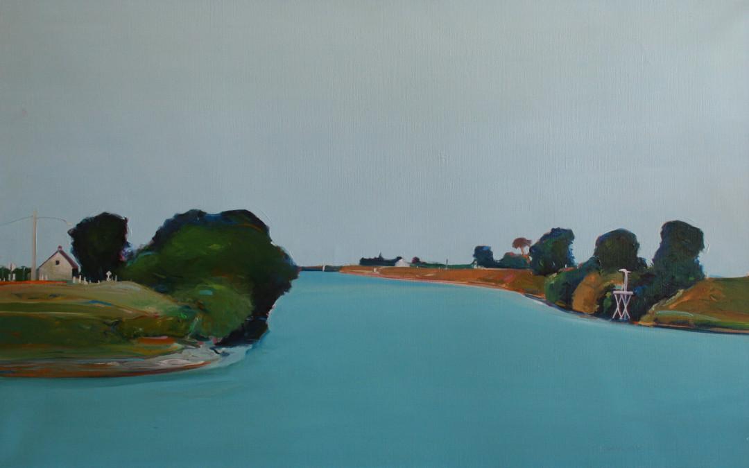 Gregory Kondos Untitled River Scene
