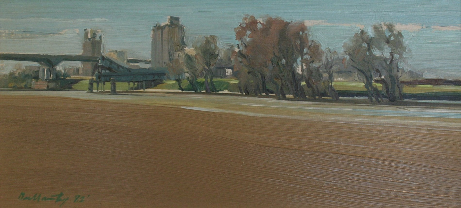 Patrick Dullanty Grain Silos On The Sacramento River