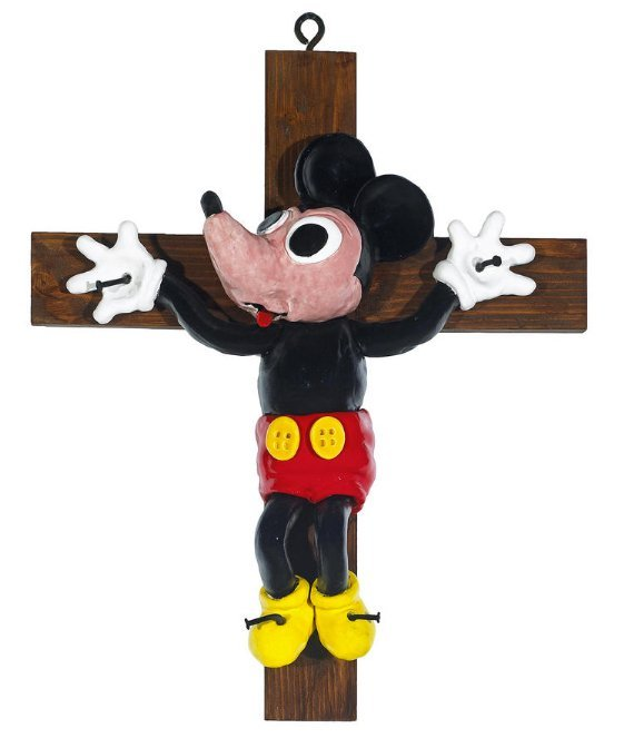 David Gilhooly Mickey On The Cross