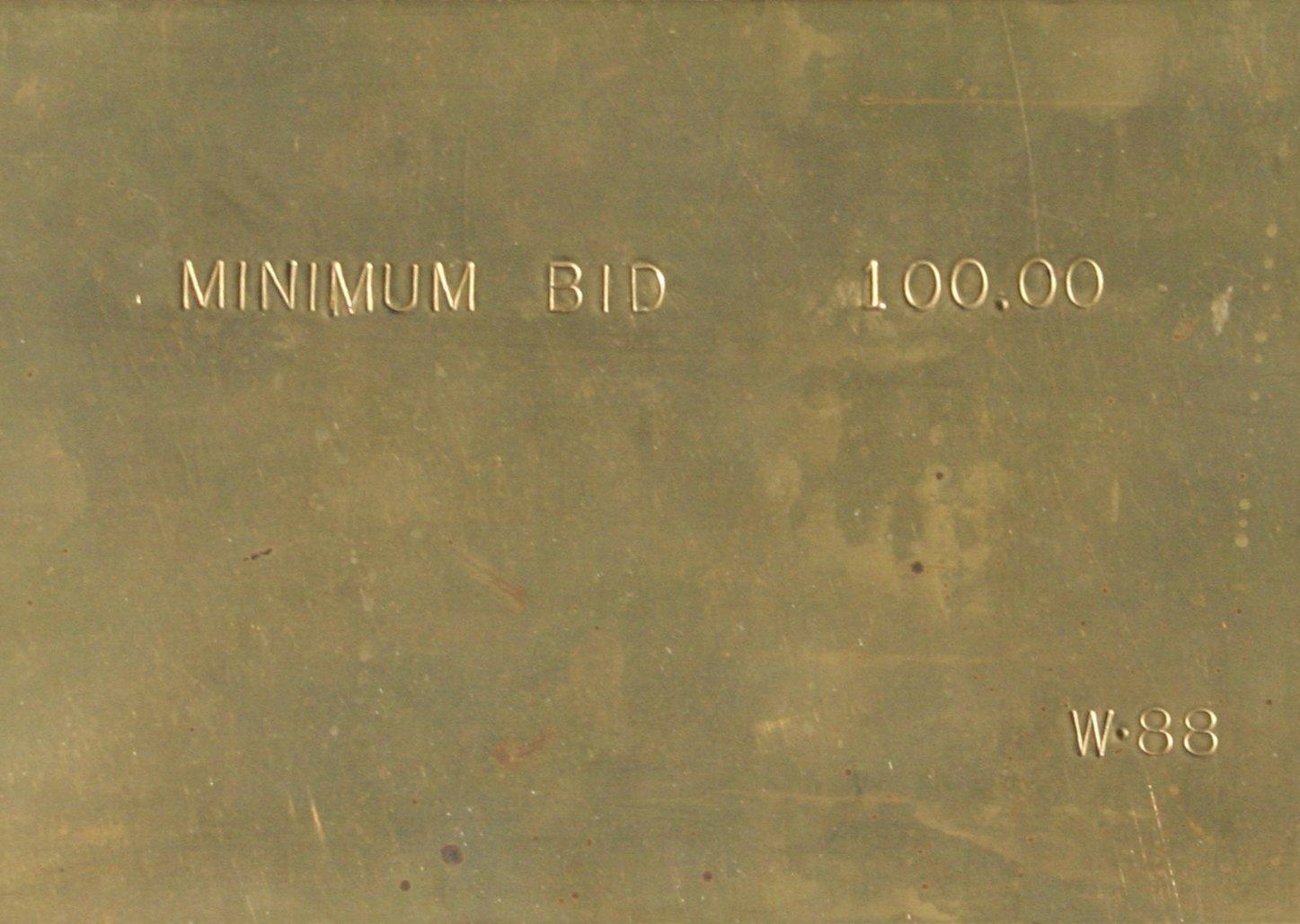 Gerald Walburg $100 Minimum Bid