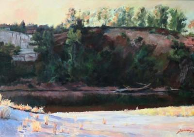 Jian Wang Untitled American River Bluffs
