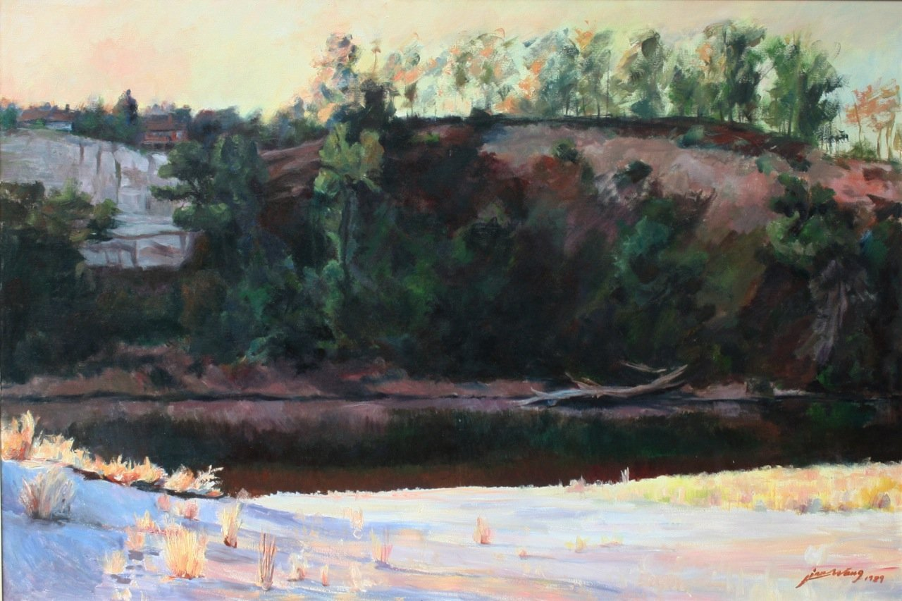 Jian Wang Untitled American River Bluffs
