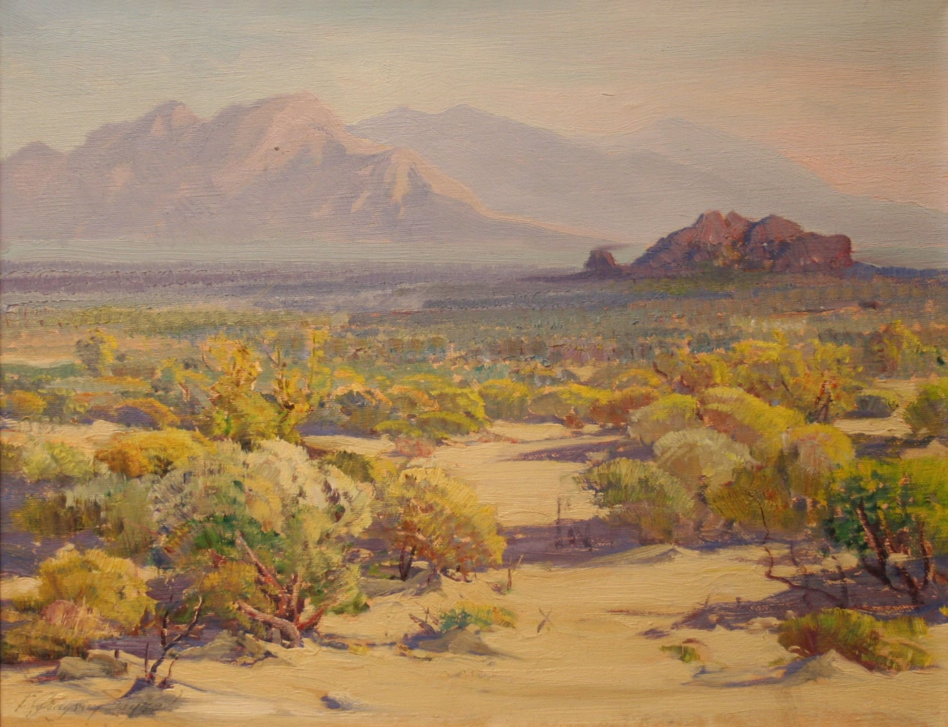 Fred Grayson Sayre Morning Light On The Desert