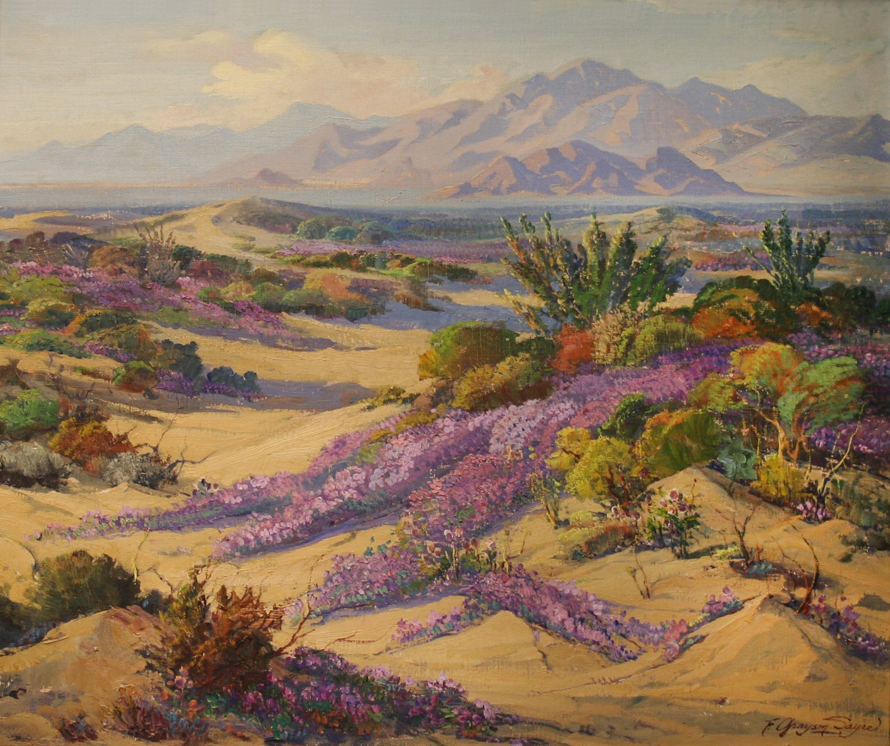 Fred Grayson Sayre Verbena On The Desert