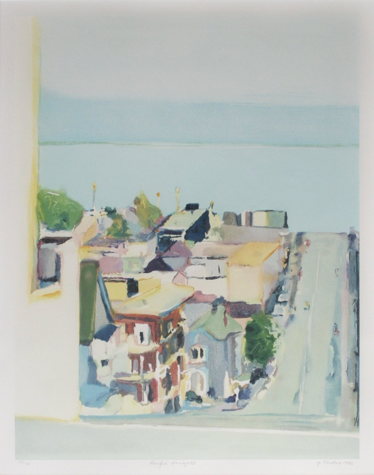 Gregory Kondos Pacific Heights, 1986