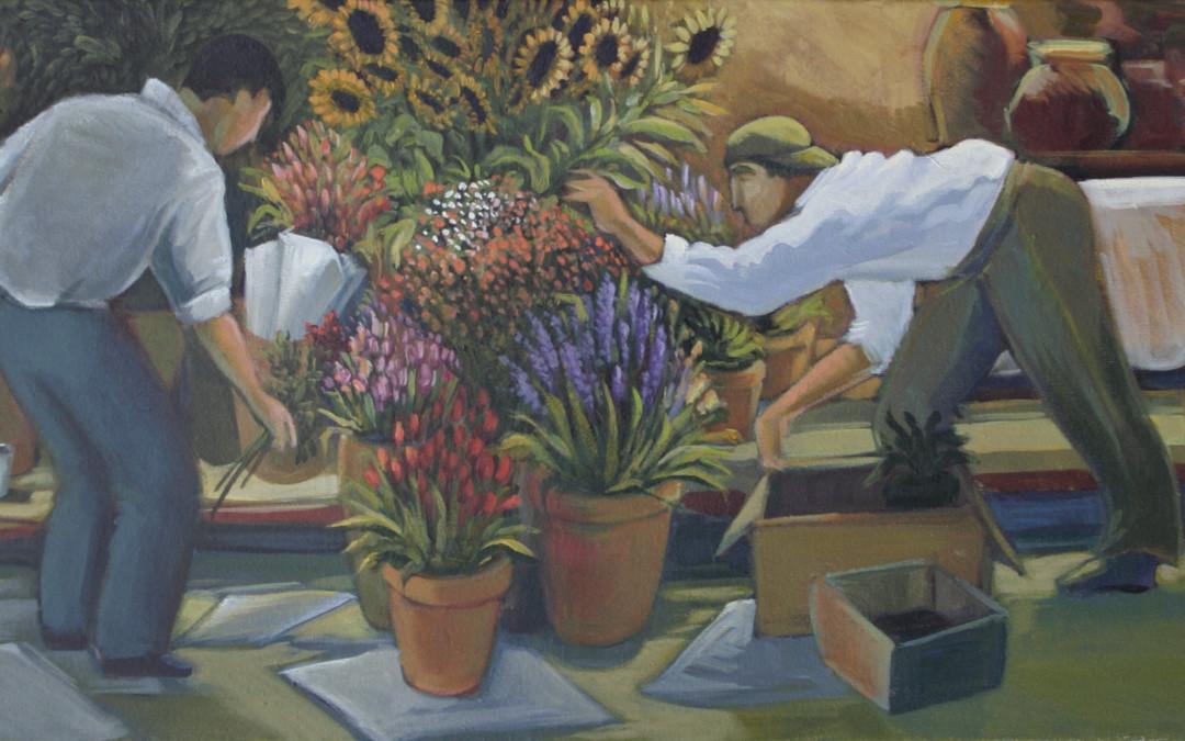 Andrea Boff Flower Market Setup, 2003