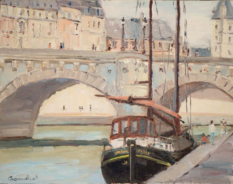 Philippe Gandiol River Boat In Paris