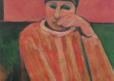 Alan Post, Woman In Striped Sweater, 1993