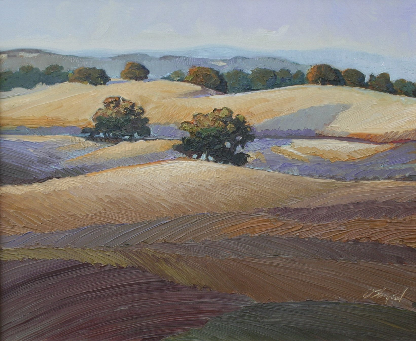 Dennis Stanford Oaks In Late Light, 2003