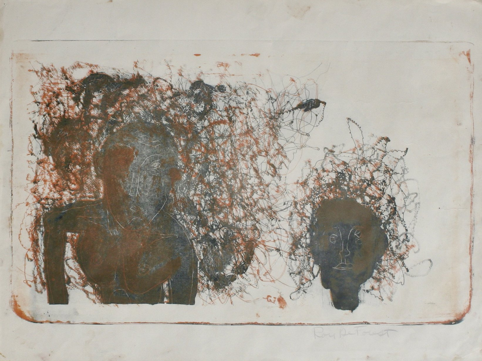 Roy DeForest, Untitled Two Figures