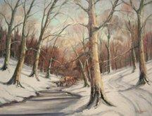Bernard Shepro, Winter Logging, 1948