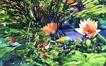 Gary Pruner, Waterlily Pond, 1976