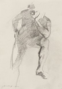 Jian Wang – Figure Drawing #4, 1993