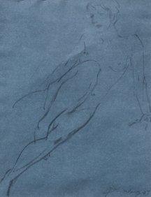 Jian Wang – Untitled Figure On Blue, 1997