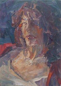 Jian Wang – Untitled Woman's Face, 1996