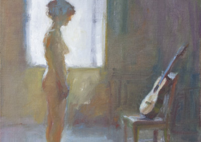 Fred Dalkey, Standing Nude With Seated Guitar, 1992