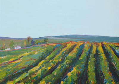 Gregory Kondos, Hillside Vineyard, 1993