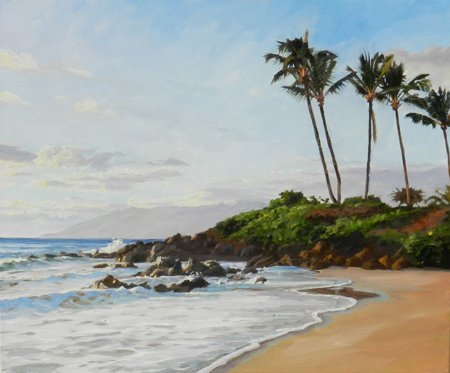 Susan Hoehn, The Beach At Wailea