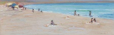 Gregory Kondos, The Beach, 1981