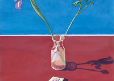 Paul Wonner, Study For Imaginary Still Life, Flowers, Matchbook, Pencil, 1978