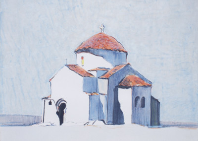 Gregory Kondos, Byzantine Church, 1982
