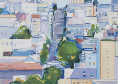 Gregory Kondos, Cathedral Hill, 1992