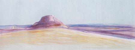 Gregory Kondos, Desert Heat, 1982