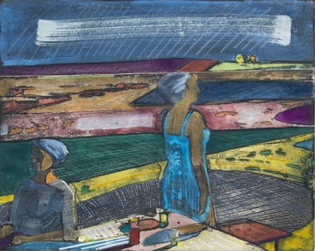 Roland Petersen, Figures Facing East And West