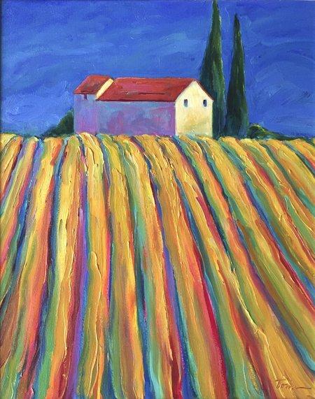 Leslie Toms, Two Cypress – San Gimignamo IV, 2003