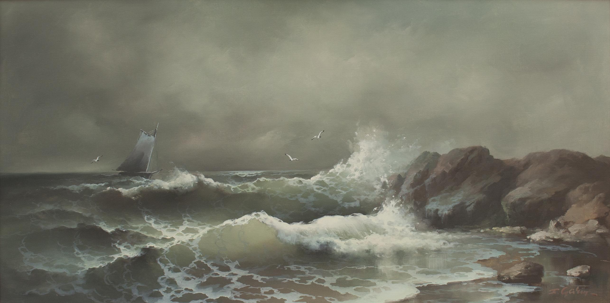 Eugene Garin – Untitled Coastal Scene, c. 1960