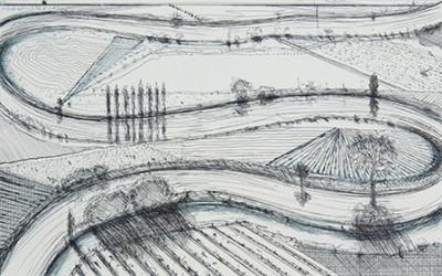 Wayne Thiebaud, River Turns, 1998/2011 7/40