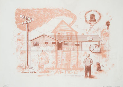 Robert Arneson – The Artist In Front Of His House 49/75, 1987