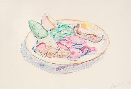 Robert Arneson – Unknown Dinner Plate, 1971