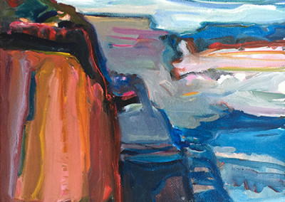 Gregory Kondos – Grand Canyon Reflections, 1995