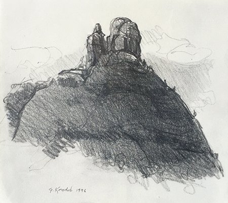 Gregory Kondos – Sedona I, 1996