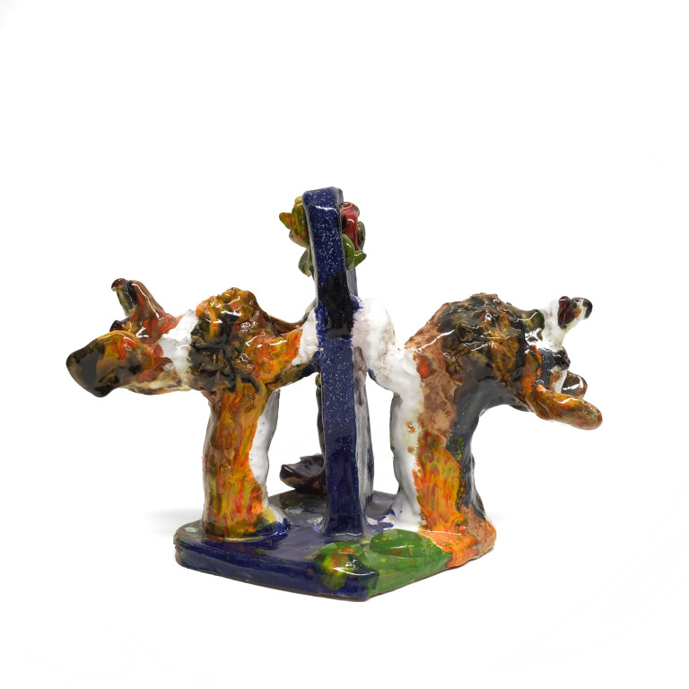Maija Peeples, Corgi Bookends, 2001