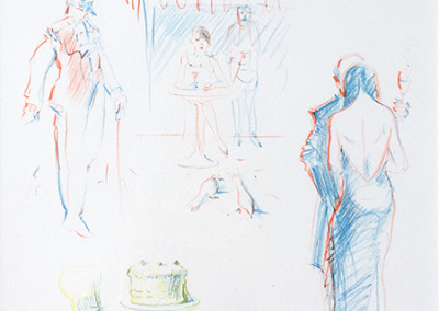 Wayne Thiebaud, The Physiology Of Taste: Café Sketches 19/20, 1994