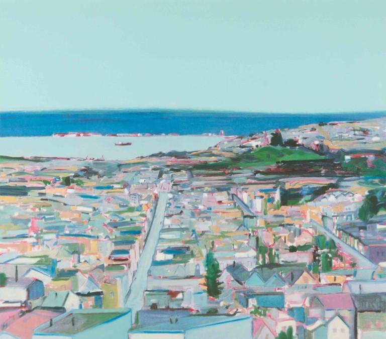 Gregory Kondos, San Francisco 8/100, 1980