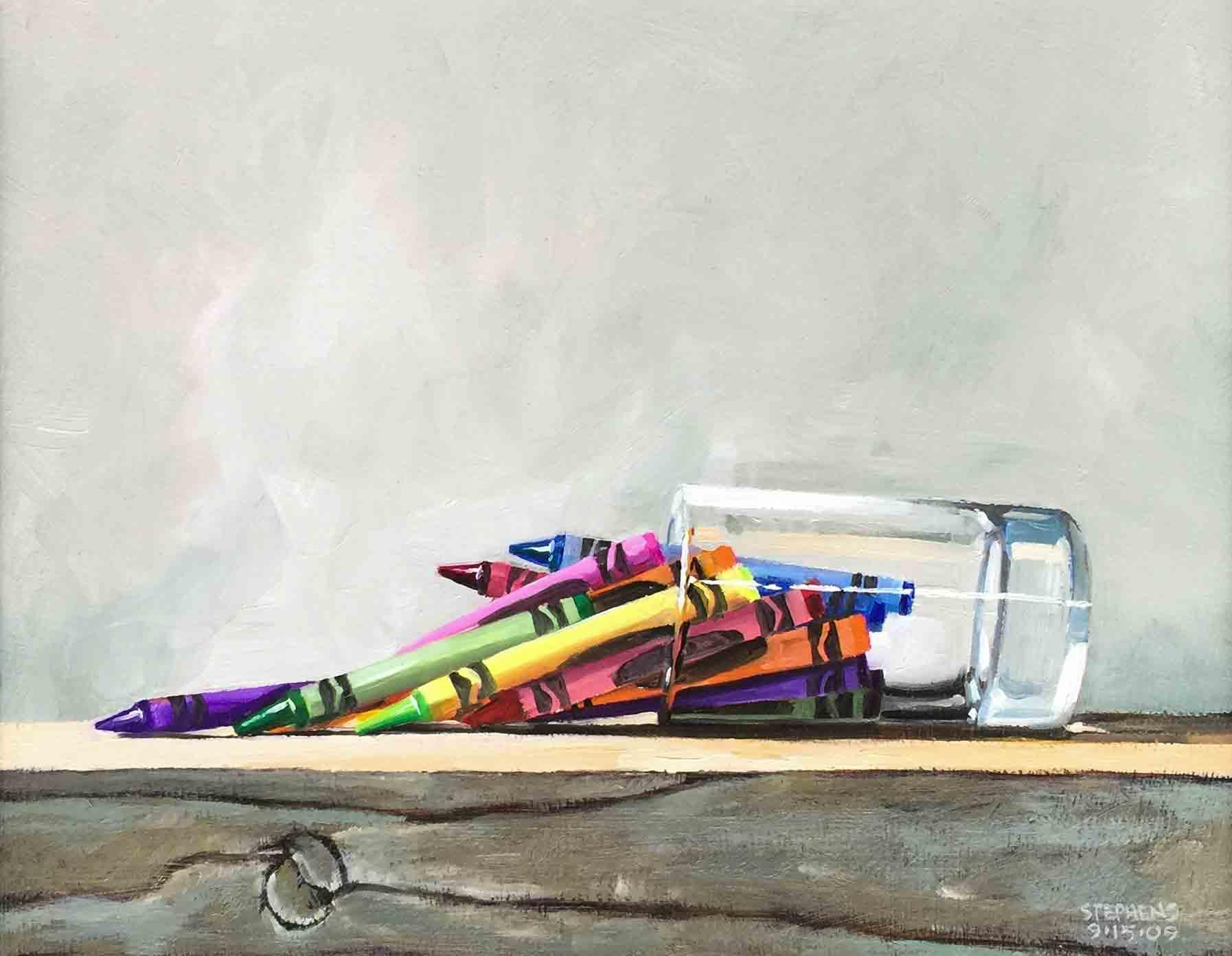 Craig Stephens, Spilled Crayons, 2009