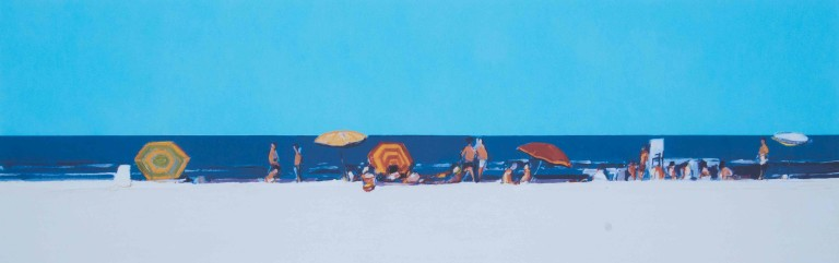 Gregory Kondos, Day At The Beach 60/75, 2001