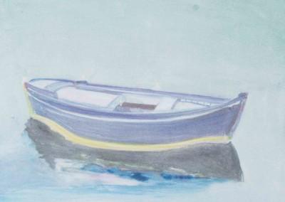 Gregory Kondos, Greek Fishing Boat, 1982