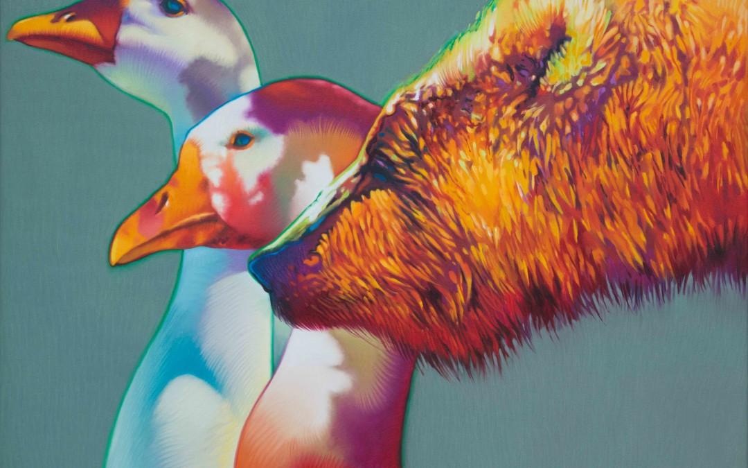 Gary Pruner, Bear & Geese, 1985