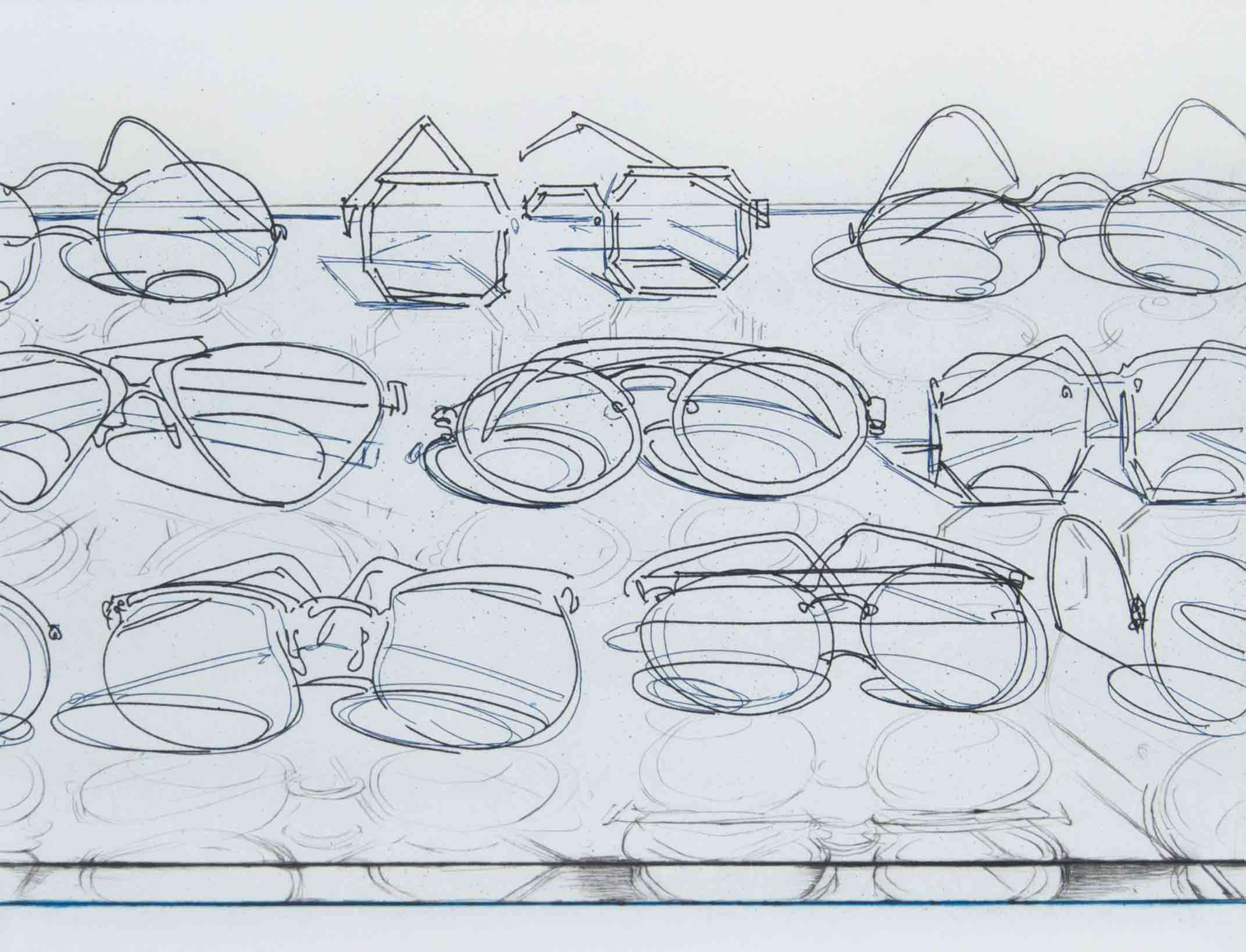 Wayne Thiebaud, Eyeglasses, 1994