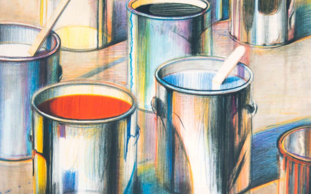 Wayne Thiebaud, Paint Cans, 1990