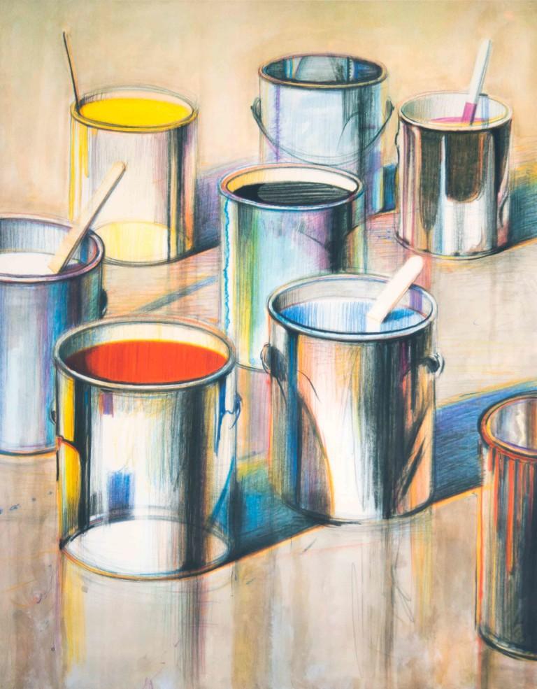 Wayne Thiebaud, Paint Cans, 1990