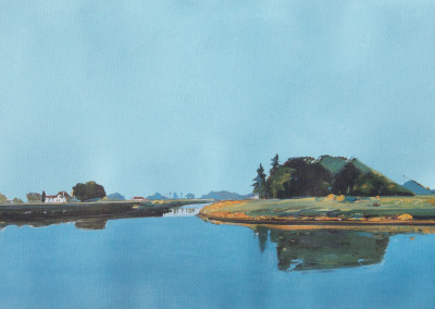 Gregory Kondos, Still Waters – Sacramento River, 1989